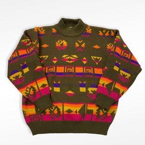 VTG Gitano Green + Bright Multicolor Sweater